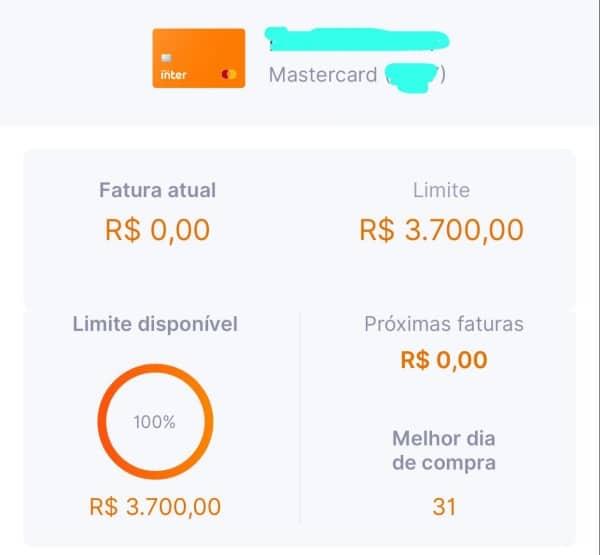 Limite inicial do Banco Inter