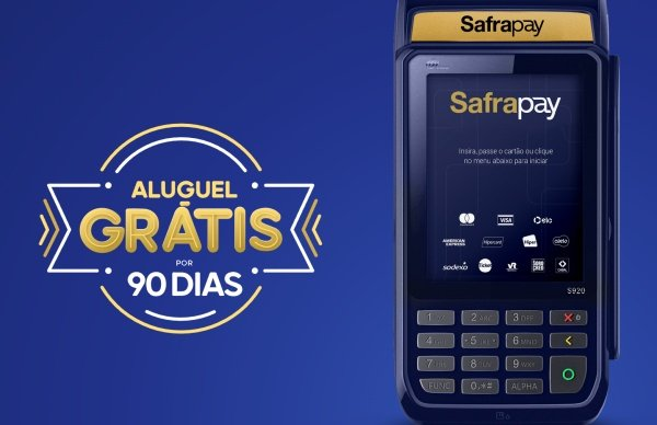 Máquina de cartão Safrapay Smart 3G