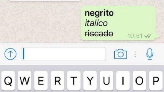 Como escrever em negrito itálico no WhatsApp