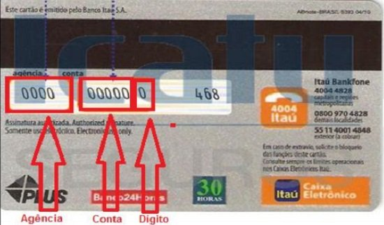 Onde fica a conta no Cartão Itaú