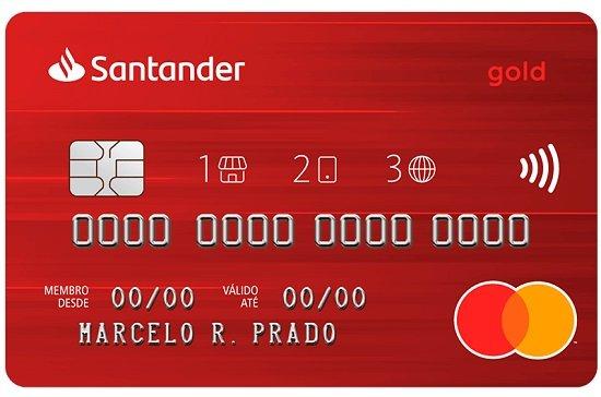 Onde fica o número da conta no cartão Santander