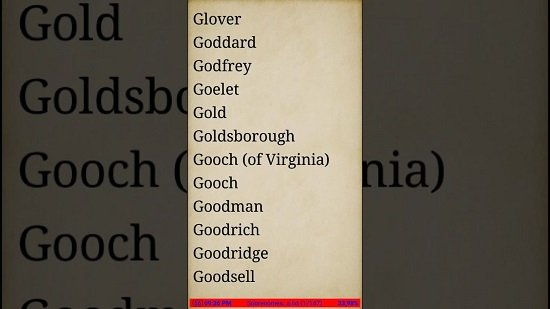 Top Sobrenomes Americanos