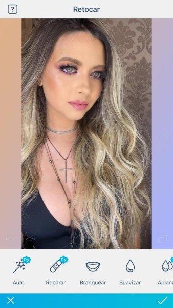 Editando maquiagem usando o FaceTune