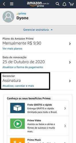 Passo 3 no Cancelamento Amazon